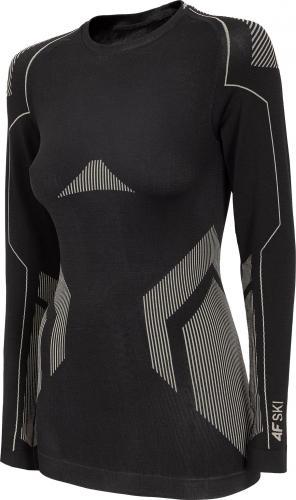 4f Koszulka damska H4Z20-BIDB030G głęboka Czerń r. L/XL