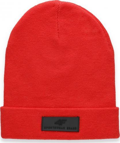 4f Czapka zimowa H4Z20-CAM013 czerwona r. L