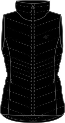 4f Kamizelka damska H4Z20-KUDP001 czarna r. S