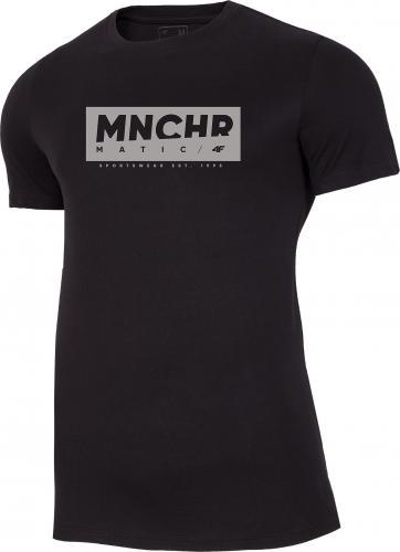 4f Koszulka męska H4Z20-TSM027 czarna r. M
