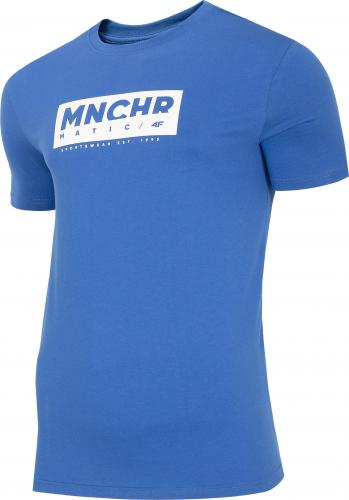 4f Koszulka męska H4Z20-TSM027 kobalt r. L