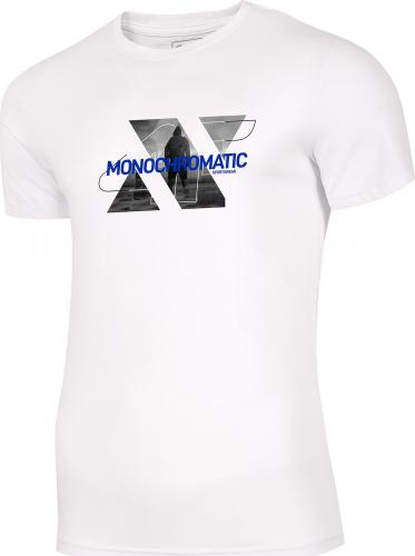 4f Koszulka męska H4Z20-TSM028 biała r. L