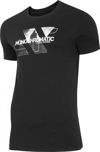 4f Koszulka męska H4Z20-TSM028 czarna r. L