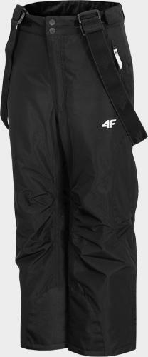 4f Spodnie chłopięce HJZ20-JSPMN001 czarne r.158