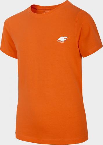 4f Koszulka dziecięca HJZ20-JTSM007A pomarańczowa r. 152