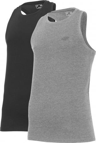 4f Koszulka męska NOSH4-TSM010 biała+biała r. L