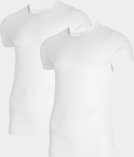 4f Koszulka męska NOSH4-TSM011 biała+biała r. L