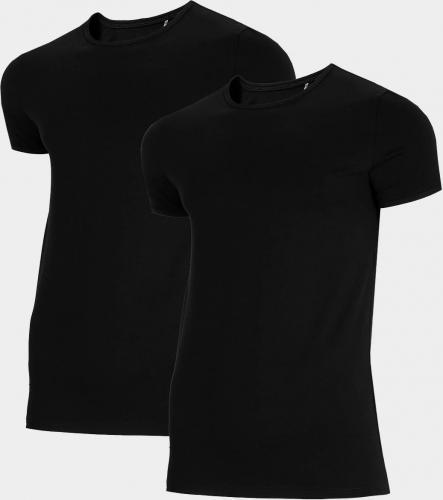 4f Koszulka męska NOSH4-TSM011 czarna+czarna r. L