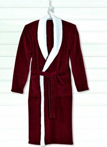 Gozze Gzze, Szlafrok unisex, kol. czerwony/biały rozmiar XL