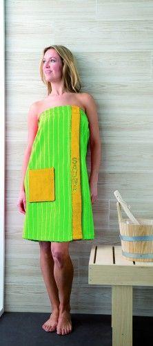 Gozze Gzze, Bawełniany sarong dla kobiet kolor jasny zielony/ żółty,Gzze
