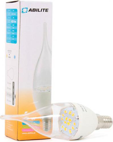 """Abilite Żarówka LED E14 """"Świeczka-Clear-Knot"""" B.ciepły, 6W/230V, 420lm, kąt św., 150° (5901583545542)"""