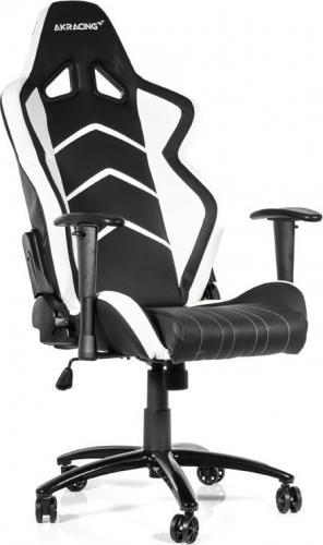 Fotel Akracing Player Czarno-biały (AK-K6014-BW)