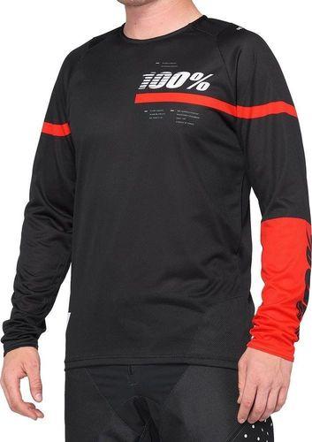 100% Koszulka męska 100% R-CORE Jersey długi rękaw red black roz. L (NEW) uniwersalny