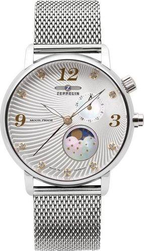 Zegarek Zeppelin Zegarek Zeppelin Luna 7637M-1 Quarz Srebrny uniwersalny