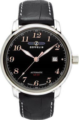 Zegarek Zeppelin Zegarek Zeppelin LZ127 7656-2 Automatik Czarny uniwersalny