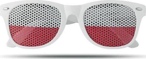 Upominkarnia Okulary przeciwsłoneczne FLAG FUN UPOMINKARNIA Biały uniwersalny