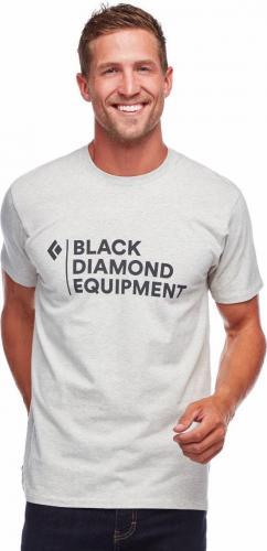 Black Diamond Koszulka męska M Stacked Logo Tee Birch Heather r. L