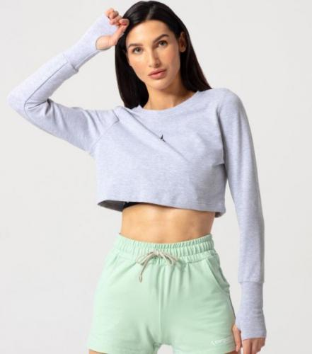 Carpatree Bluza damska Cheery Sweatshirt Light Melange r. XS