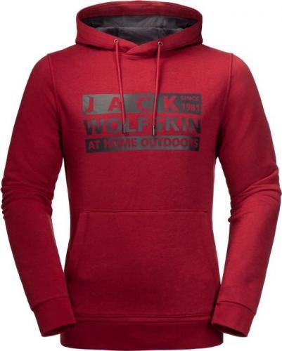 Jack Wolfskin Bluza męska Brand Hoody M dark lacquer red r. L (1709201-2027)