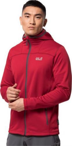 Jack Wolfskin Bluza męska Horizon Hooded Jacket M red lacquer r. L (1708411-2102)