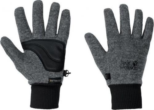 Jack Wolfskin Rękawice unisex Stormlock Knit Glove phantom r. M (1900923-6350)
