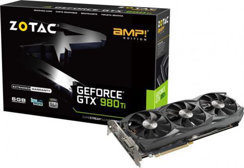 Karta graficzna Zotac GeForce GTX 980Ti AMP 6GB DDR5 (384 bit) HDMI, DVI, 3x DP (ZT-90503-10P)