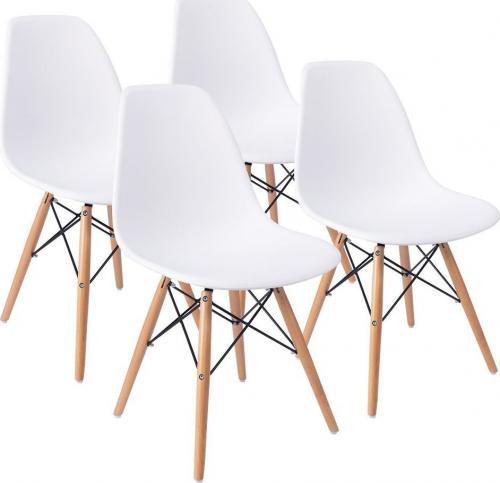 LEOBERT 4x Krzesło TOLV DSW - białe
