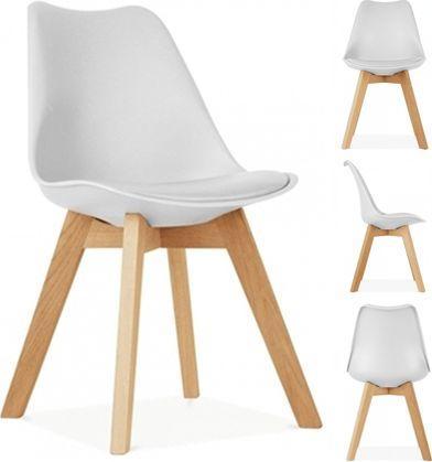 LEOBERT 4x Krzesło ATTE DSW - białe