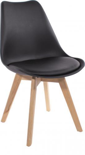 LEOBERT Krzesło ATTE DSW czarne