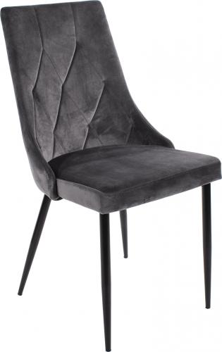 LEOBERT Krzesło ROSA tapicerowane aksamitne - szare