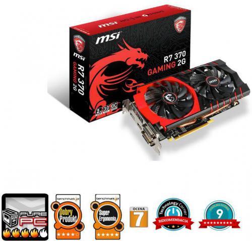 Karta graficzna MSI Radeon R7 370, 2GB GDDR5 (256 Bit), HDMI, 2xDVI, DP (R7 370 GAMING 2G)