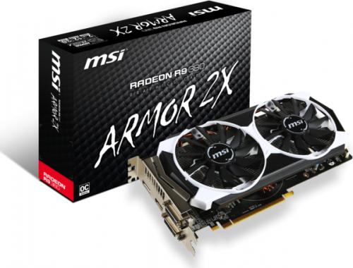 Karta graficzna MSI Radeon R9 380 OC, 2GB GDDR5 (256 Bit), HDMI, 2xDVI, DP (R9 380 2GD5T OC)