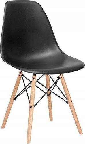 SPRINGOS Krzesło dsw milano design czarne UNIWERSALNY