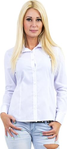 GENESY U20 Koszula Długi Rękaw Klasyk (34-50) - Biały Rozm. 46
