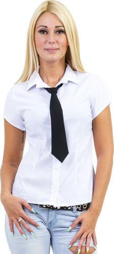 GENESY U14 Koszula Krótki Rękaw Krawat (34-50) - Biały Rozm. 46