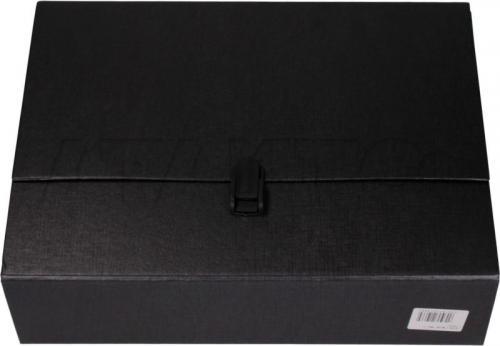 Delfin Teczka szkolna maxi A4, z rączką, Czarna (KD5015)