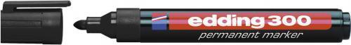 Edding Marker permanentny 300 końcówka okrągła czarny (EG1000)