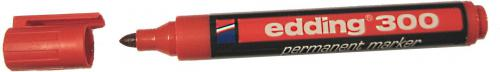 Edding Marker permanentny 300 końcówka okrągła czerwony (EG1001)
