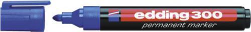 Edding Marker permanentny 300 końcówka okrągła niebieski (EG1002)