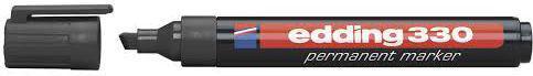 Edding Marker permanentny 330 ścięta końcówka czarny (EG1004)