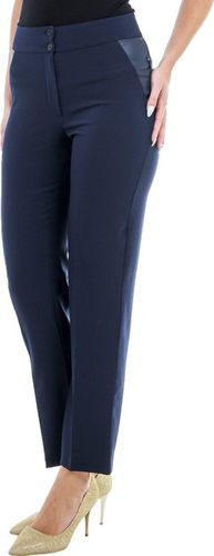 GENESY S87 Wyszczuplające Spodnie Wysoki Stan (38-52) - Granatowy Rozm. 42