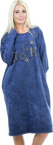 GENESY V281 Tunika Sukienka Dżety - Niebieski Rozm. Uni