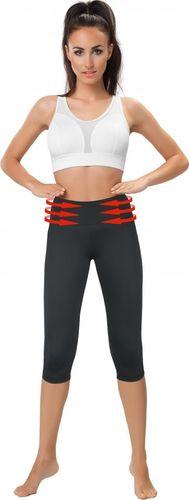 Gwinner Legginsy damskie Belly Control Capri With Mesh Panels czarne r. S