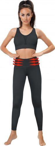 Gwinner Legginsy damskie Belly Control Leggings with Mesh Panels czarne r. XL