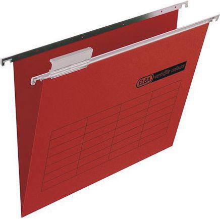 Elba Teczka zawieszana z metalową listwą, 24 x 31 cm, czerwony   (EB5315)