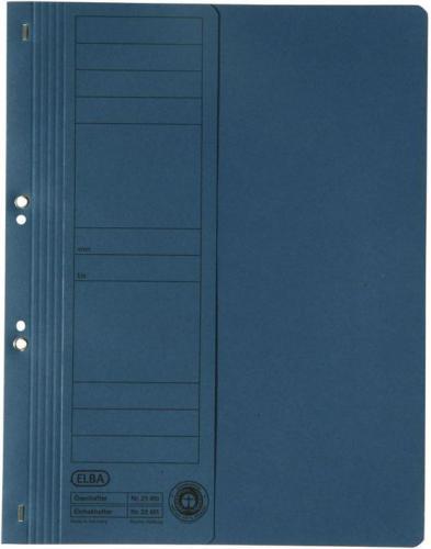 Elba Skoroszyt kartonowy oczkowy, A4, połówkowy, niebieski (BX6073)