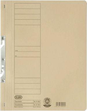 Elba Skoroszyt kartonowy hakowy, Pełny,  A4, kremowy (EB5296)