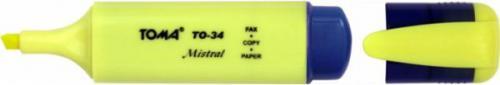 Toma Zakreślacz Mistral TO-34 żółty (TA1011)