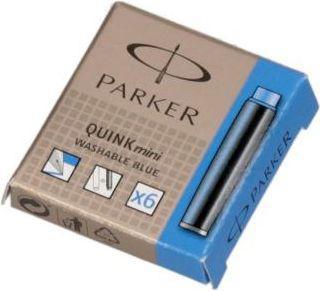 Parker Nabój atramentowy QUINK mini 6szt. niebieski (S0767240)