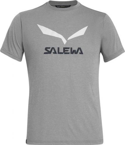 Salewa Koszulka męska SOLIDLOGO DRY M S/S TEE heather grey melange r. XL
